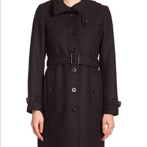 Burberry wool cashmere blend trench coat